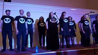 Full choir singing