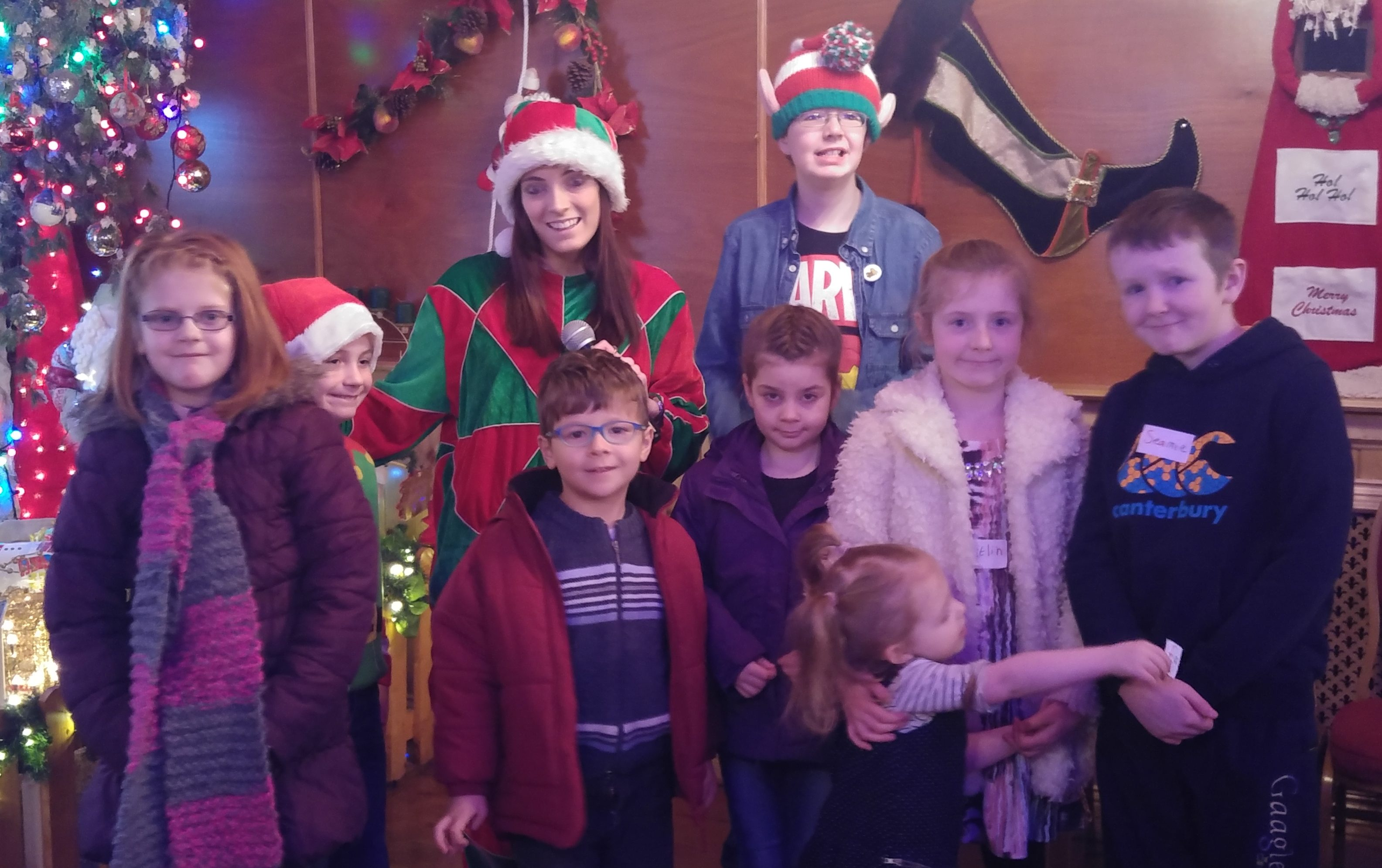 Families visiting Santa with our team in Northern Ireland