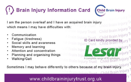 Brain Injury Card