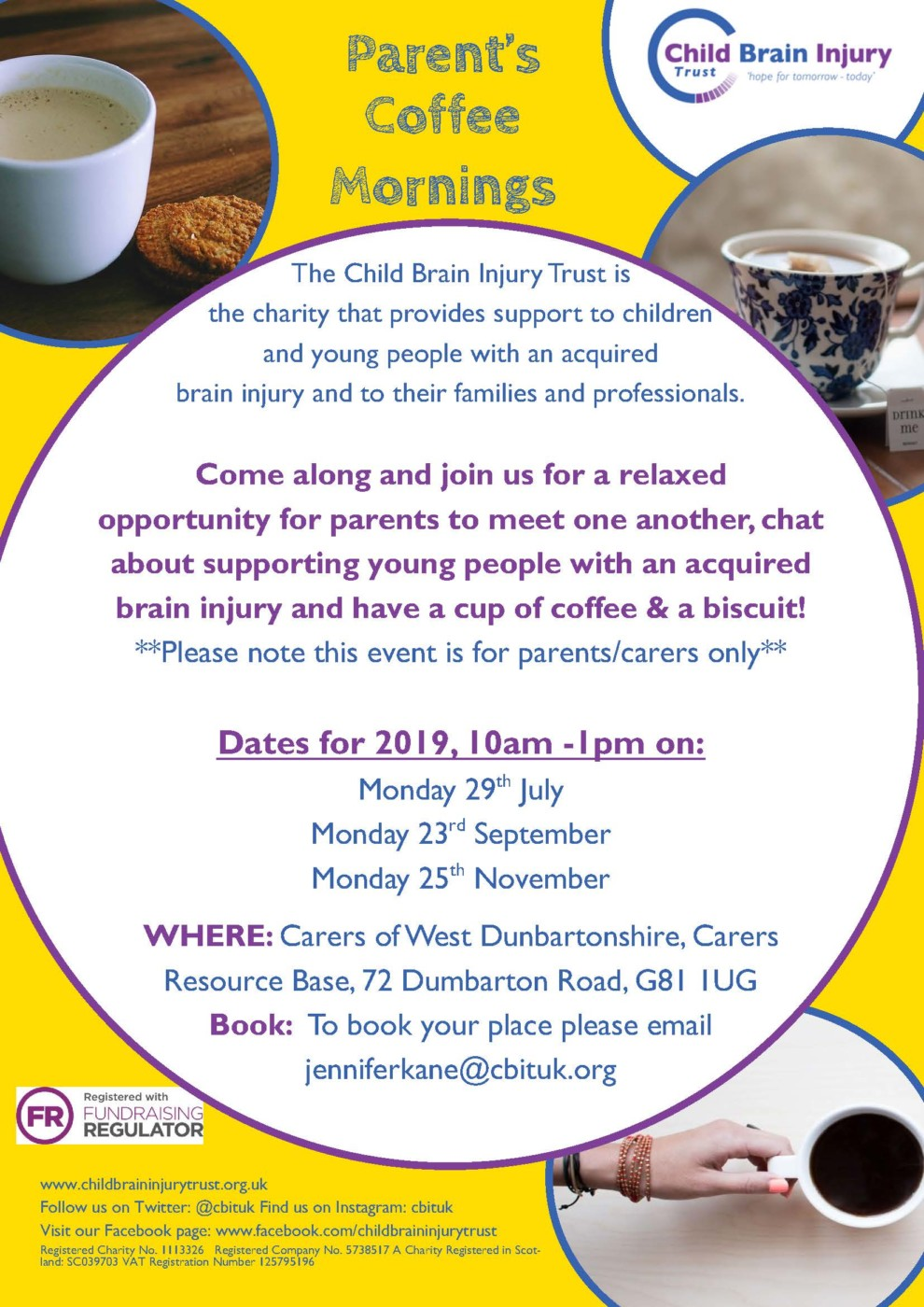 Coffee morning poster 2019