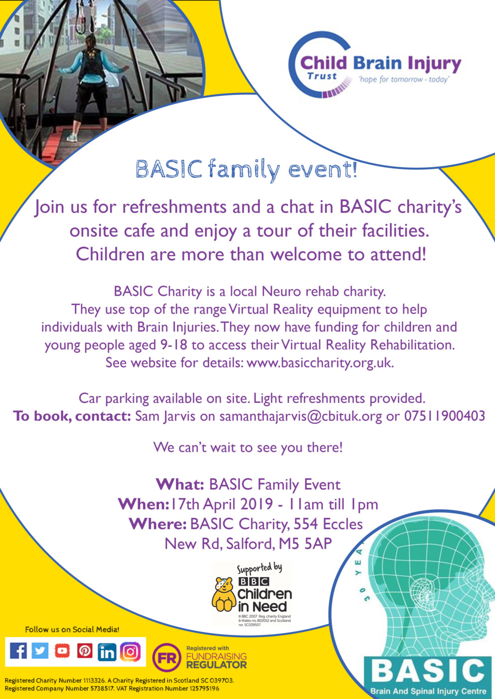 Sam and Maria BASIC event poster