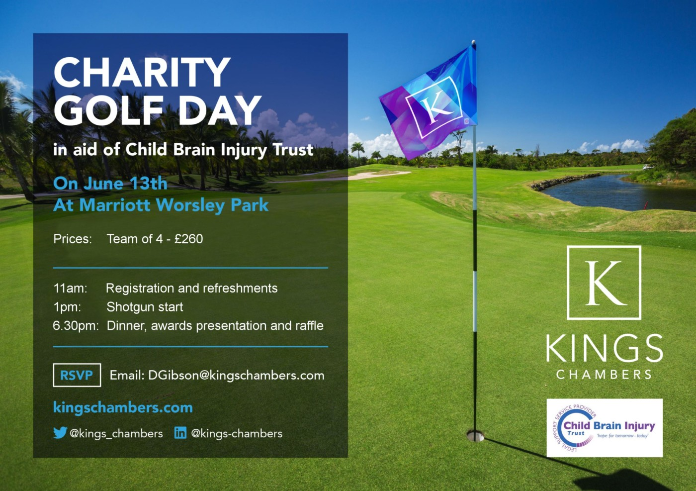 kings chambers golf event