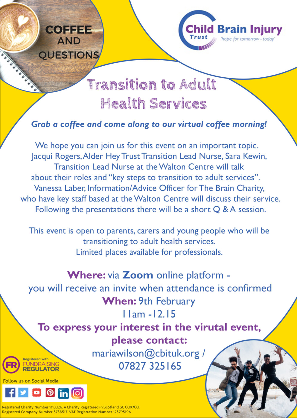 Transition to Adult  Health Services - North West Virtual Event
