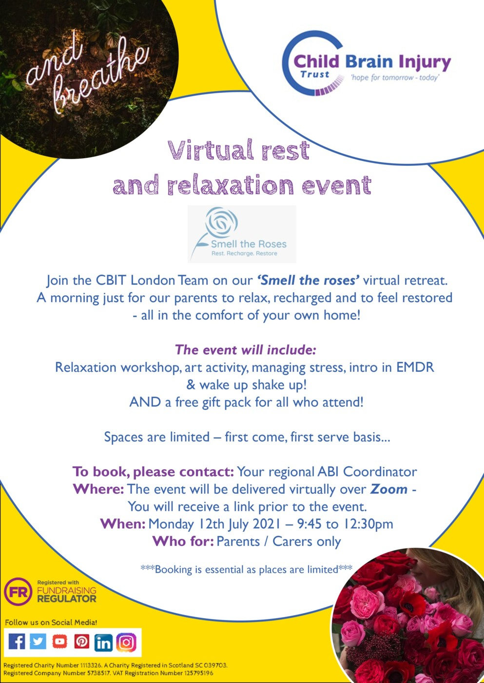 Virtual rest and relaxation event